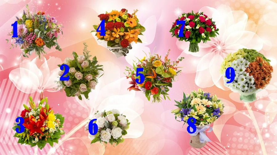 Тест: Выберите один букет цветов и он расскажет Вам, что о Вас думают окружающие