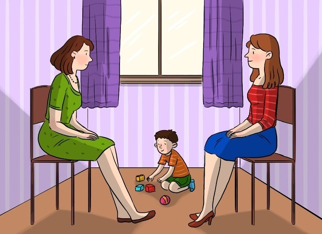 Тест: Как Вы считаете, кто из двух женщин на картинки мать ребенка