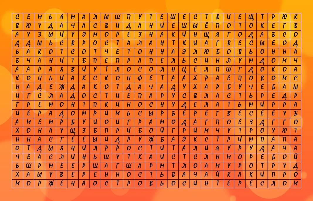 Тест: Найдите три слова на изображении и узнаете Ваш девиз на год