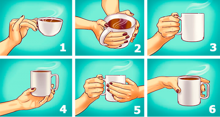 Тест: Выберите, как держите чашку и узнаете о ярких чертах характера