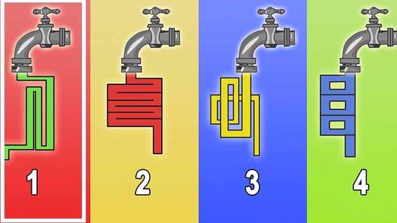 Из какого именно крана вода будет течь быстрее?