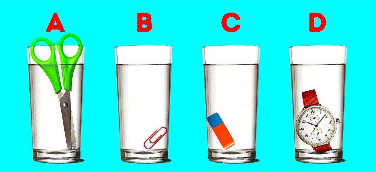 Тест: Как Вы считаете, в каком стакане содержится больше воды