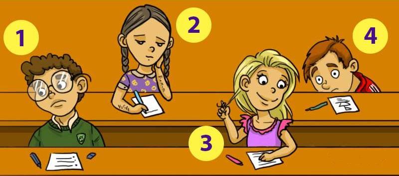 Тест: Как думаете, кто из студентов списывает