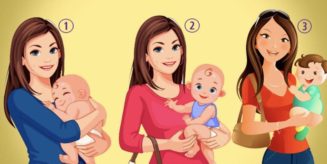 Тест на личность: Как считаете, кто из женщин на картинке держит чужого ребёнка