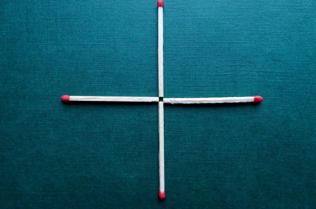 Логическая головоломка: Переместите одну спичку так, чтобы получился квадрат!
