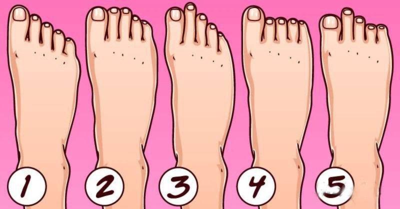 Тест: Выберите форму стопы из 5 на картинке и узнайте особенности вашей личности