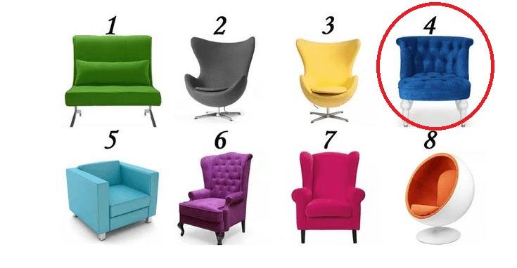 Тест: Выберите на одно из 8-ми кресло и узнаете, какое место вы занимаете в своей жизни