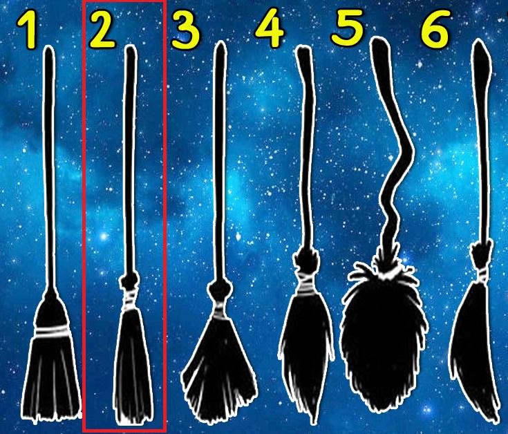 Выберите 1 из 6-ти метлу и узнайте, к какому типу ведьм Вы относитесь!