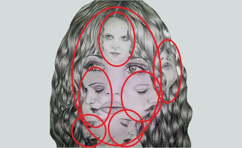 Тест: Какое количество женских лиц вы увидели на изображение, ответ определит ваш психологический возраст