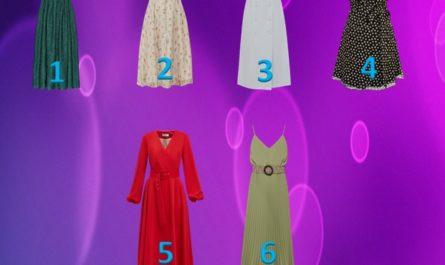 Выберите 1 из 6-ти понравившееся платье и узнайте секреты своего характера