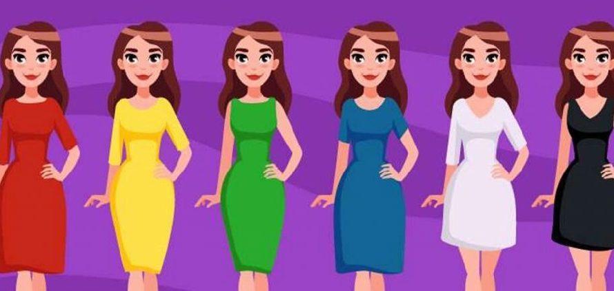 Сделайте выбор платья на картинке и узнаете о себе что-то новое